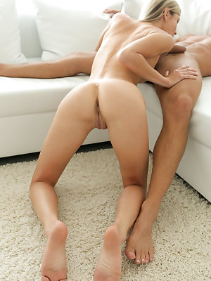 Super skinny hottie Gina Gerson is in the midst of her workout, but she can't keep her eyes off of her boyfriend Lutro. When Lutro decides to start snapping pics of Gina in a variety of provocative positions, Gina happily agrees to play ball. Soon she has
