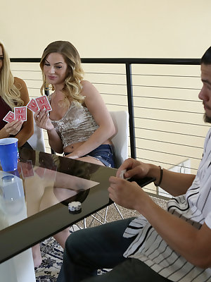 Elsa Jean, Sydney Cole, and Bambino are engaged in a tense game of poker where the stakes are both chips and clothes. The girls strike first blood, but before Bambino can try to make a comeback Elsa and Sydney decide that playtime is over. It's not long b