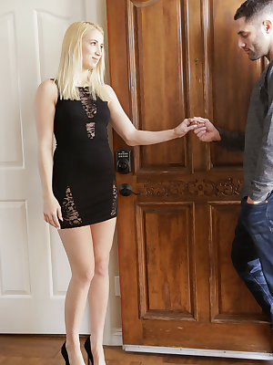 A tight dress clings to every one of Sierra Nicole's curves, leaving nothing to the imagination. Damon Dice likes what he sees, and instead of going out on a date as he had planned he decides to change his plans to stay in instead. Sierra is totally up fo