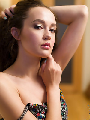 Brunette cutie Kseniya Yankovskaya is sultry and seductive, and totally happy to practice her wiles whenever possible. She loves having her breasts fondled and jiggled and her hard nips pinched, but what this Russian coed really craves is the orgasmic bli