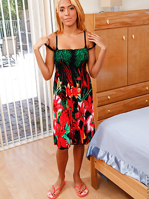 A flirty sundress outlines every curve that teen amateur Selena Sosa brings to the table. Tanned and toned, this busty coed is a dream come true as she shows off the bounty of her big boobs and then spreads her legs so you can enjoy the creamy delight of