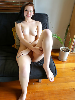 Fresh faced brunette Lulu Reynolds is just learning what she likes at 20 years old. This budding sexual deviant will happily peel off her peekaboo thong so she can show off her full boobs and tight figure that will lead your eyes down to feast on the soft