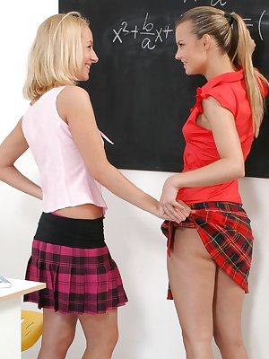 Watch 2 naughty lesbians in the classroom
