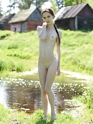 This wonderful doll has some hot fun with showing her fine body off in the open air and embracing all the burning lust she feels.