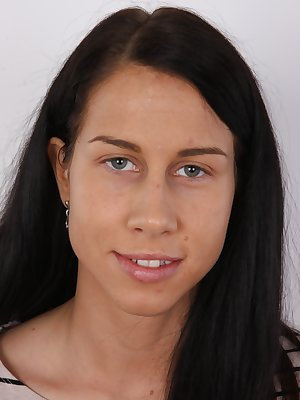 Great news! Here's another casting video. The most famous amateur casting project in the world brings you another unknown Czech girl. Here come Veronika, a very pretty girl with dark hair. She studies the special pedagogy on a university and she woul