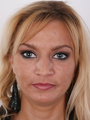 We discovered a talent! But we need to know your expert opinion. We'd like to introduce you to our latest discovery of our casting agency, 31 years old single mother Sona. Sexy blonde from Prague is determined to have career in porn business. She's willin
