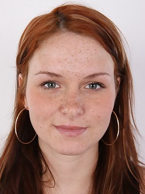 Redheads are very rare commodity. Especially the true redheads. Adela dyes her hair, but well, who cares? She`s gorgeous anyway and that`s all that matters to me. Gorgeous may not me the right word. Look at her sweet young face covered in freckles and sur