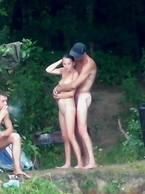 Naked students explore nature in their own sexy way